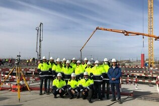 The Arena construction site in Omsk was visited by a delegation of the Limak Group and representatives of Turkish media