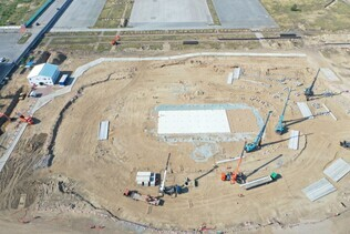 "Works for arrangement builders` camp at ""Arena Omsk"" sport complex have reached the final stage"
