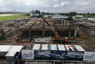 Pit earthworks for Kemerovo new airport main building are finished