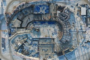 "Photo report of the ""Arena Omsk"" construction in December"